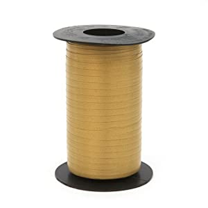 Berwick Splendorette Crimped Curling Ribbon, 3/16-Inch Wide by 500-Yard Spool, Holiday Gold
