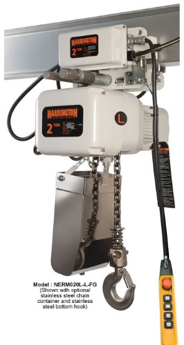 Harrington Nerm020L-L/S-Fg-20 Electric Chain Hoist 20' Of Lift 2 Ton