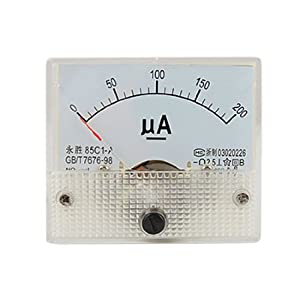 0-200ua Dc Current Analog Panel Meter Amperemeter Gauge 85c1-a