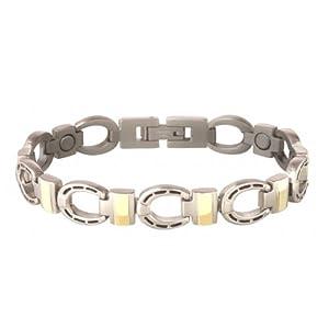 Buy Sabona Silver Horseshoe Duet Magnetic Bracelet (Various Sizes) by Sabona