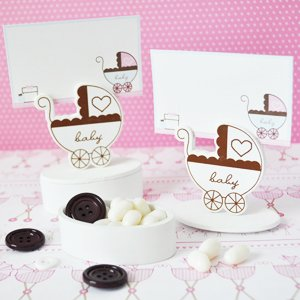 Baby Carriage Place Card Favor Boxes With Designer Place Cards (Set Of 288) - Baby Shower Gifts & Wedding Favors