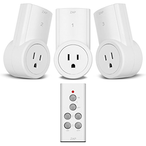 Etekcity Wireless Remote Control Electrical Outlet Switch for Household Appliances, White (Fixed Code, 3Rx-1Tx) (Remote Outlet compare prices)