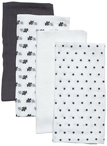 Care Unisex Baby Tuch Universal im 4er Pack, All over print, Gr. One size (Herstellergröße: 70X70), Mehrfarbig