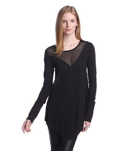 Nicholas K Women's Long Sleeve Top with Mesh Inserts