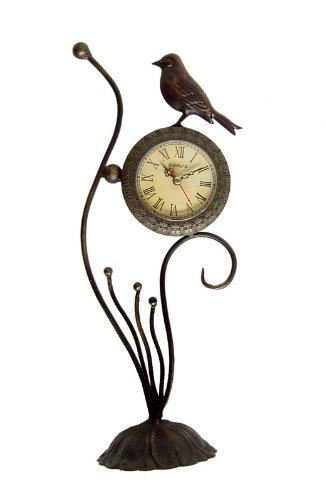 Bird Metal Décor Table Clock