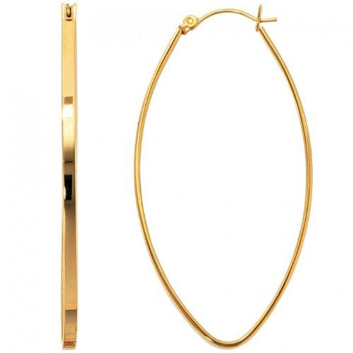 Creolen Edelstahl vergoldet goldene Kreolen ovale Form