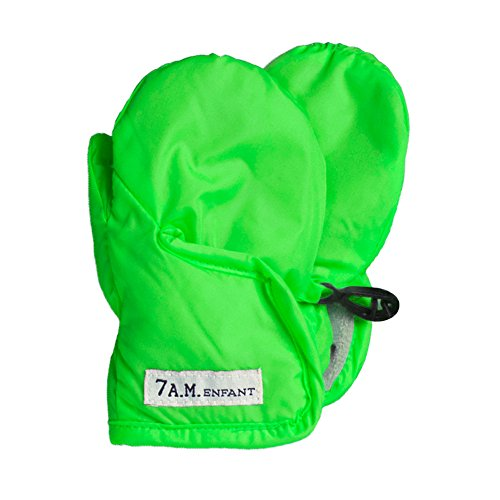 7AM Enfant Classic Mittens 212, Neon Green, Large