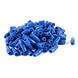 Water & Wood 100 Pcs Blue PVC Crimp Terminal End Insulated Sleeves V-3.5 4mm2