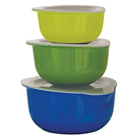 Tovolo Melamine Mixing Bowls with Lids, Set of 3