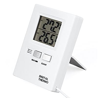 YKS Digital LCD Thermometer Temperature Meter Tester Home Indoor Outdoor 0.1 Degree Resolution