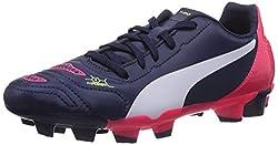 Puma Boys evoPOWER 4.2 FG Jr Peacoat-White-Bright Plasma Running Shoes - 10C UK