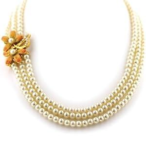 Amazon.com: Fantasia Fiori Triple Strand Simulated Pearl