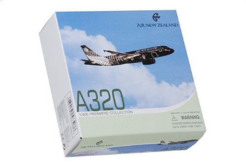 """1:400 ドラゴンモデルズ 56328 エアバス A320 ダイキャスト モデル Air New Zealand ZK-OAB """"All 黒s""""【並行輸入品】"""