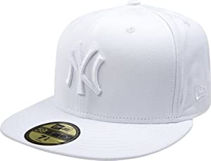 MLB New York Yankees White on White 59FIFTY Fitted Cap by New Era