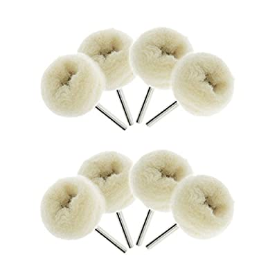 Best Choose New 10Pcs 25mm Fine Wool Polishing Buffing Wheels Dremel Accessories for Rotary Tool