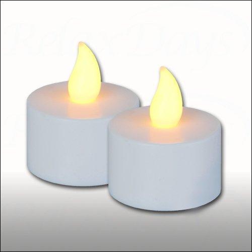 LED-Teelicht 2er-Set flackernde Kerzen ohne Flamme