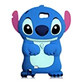 Blue Disney 3d Stitch Ear Flip for Samsung Galaxy Note II GT-N7100 Soft Silicone Cover Case
