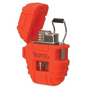 Ultimate Survival Technologies Delta Shock and Storm Proof Lighter - Blaze Orange by Ultimate Survival Technologies