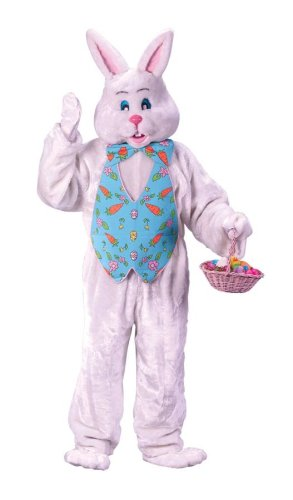 Bunny Costume W/Parade Head Adult Fits up to 6' & 200Lbs