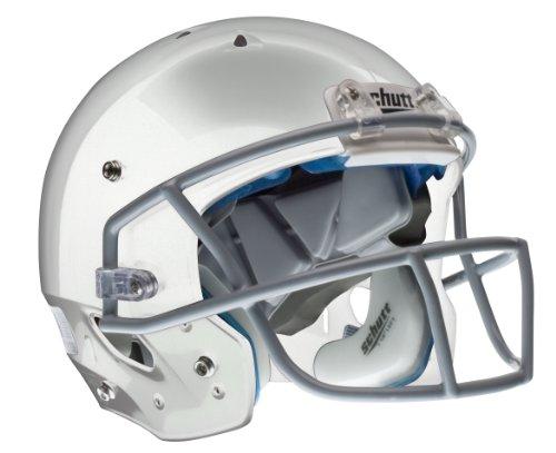 Schutt Youth Recruit Hybrid+ Football Helmet without Faceguard (Met Silver, Small)