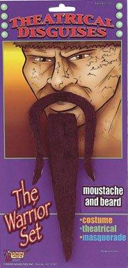 Samurai Warrior Moustache and Beard Costume Accessories