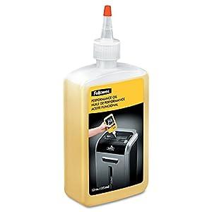 Fellowes 35250 Flacon d'huile lubrifiante 355ml pour destructeurs de documents coupe croisée