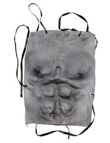 Costume-Accessory Werewolf Chest Grey Halloween Costume Item - 1 size