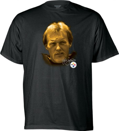 Jack Lambert Reebok Retired Great Profile Pittsburgh Steelers T-Shirt - Small