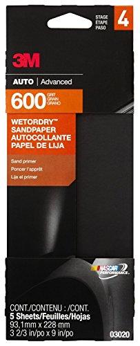 "3M 03020 Imperial Wetordry 3-2/3"" x 9"" P600 Grit Sandpaper"