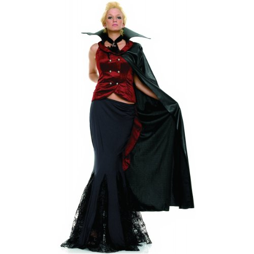 Vampire Queen Sexy Women's Costume Adult Halloween Outfit - Size S/M, Dress Size 2-8