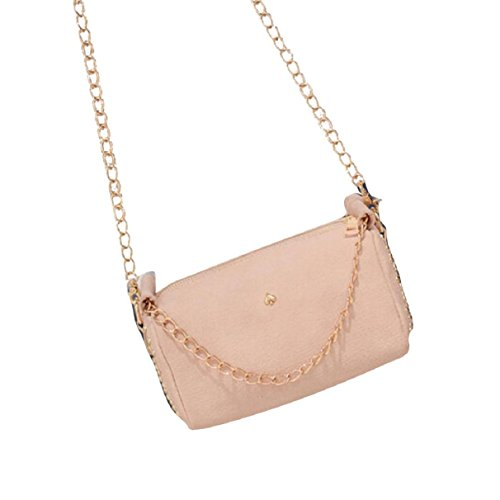 lookatool-fashion-women-leather-chain-handbag-cross-body-single-shoulder-phone-coin-bag-beige