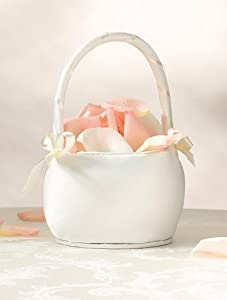 Flower Girl Basket Color - Ivory