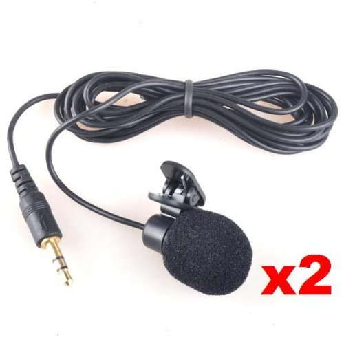 Neewer 3.5Mm Hands Free Computer Clip On Mini Lapel Microphone (2X Lapel Microphone)