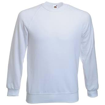 Fruit of the Loom Raglan Sweatshirt - White Small