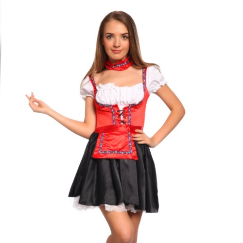 Sexy Women Oktoberfest Bavarian Beer Girl German Maid Costume Fancy Dress