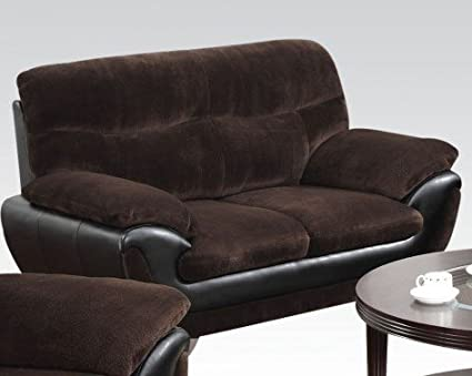 Wilona Fabric Loveseat in Chocolate by Acme Furniture