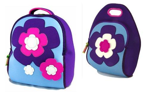 Dabbawalla Bags Flower Power Girls Preschool Toddler Backpack and Lunch Bag  Set 3bb024e866b24
