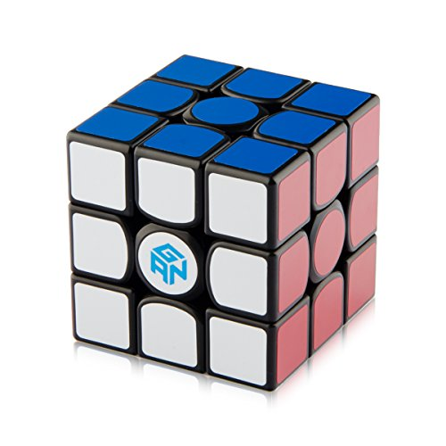 D-FantiX Gans 356 Air Master 3x3 Speed Cube Gan356 Air Magic Cube Puzzles Black with Cube Stand