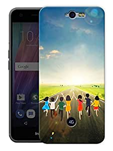 """Children And Kids Life Printed Designer Mobile Back Cover For """"Google Infocus M812"""" By Humor Gang (3D, Matte Finish, Premium Quality, Protective Snap On Slim Hard Phone Case, Multi Color)"""