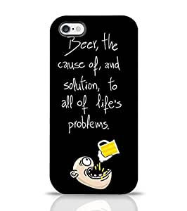 Cover for Apple iPhone 6 Plus Crazy Man Drinking Beer Back Cover for Apple Multicolor
