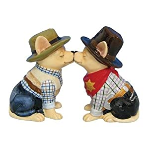 Aye Chihuahua Cowboy And Cowgirl Salt and Pepper Shakers