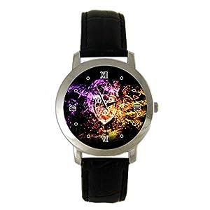 Arsenal Custom leather Band Fashion Adult Wrist Watch - Holiday tone