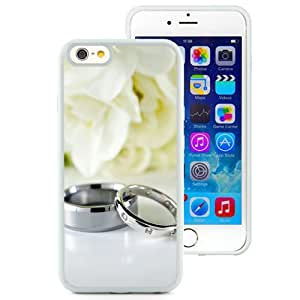 6 Phone cases, Rings Couple Wedding Silver Flowers White iPhone 6 4.7 inch TPU cell phone case