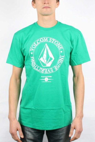 Volcom - Lotus Mission S/S Tee Men S/S Basic T-Shirt, Size: Small, Color: Emerald Green
