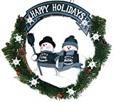 Seattle Seahawks 20'' Team Snowman Wreath at Amazon.com