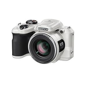 """Fujifilm Finepix S8600 Appareil photo numérique compact bridge 16,44 Mpix Écran LCD 3 """" Zoom optique 36x Blanc"""