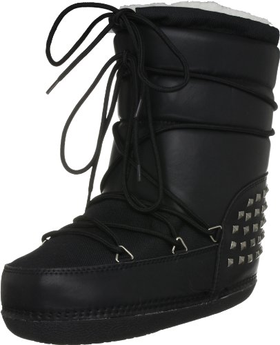 Rubber Duck Women's Big Foot Pu Leather W Studs Black Snow Boot Sno200690107 6 Uk