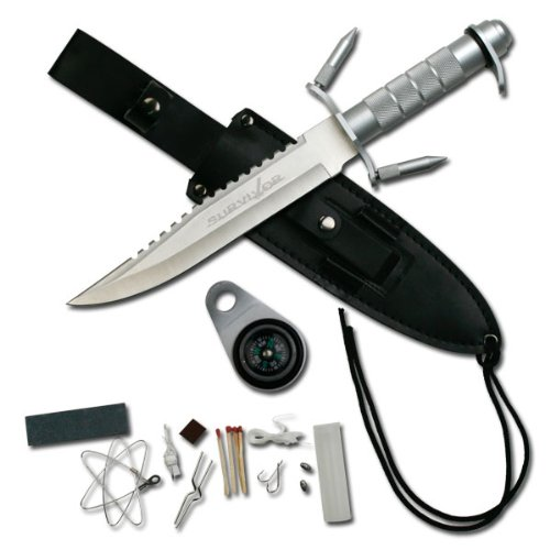 Survivor 14-Inch Overall Survival Stainless Steel Knife