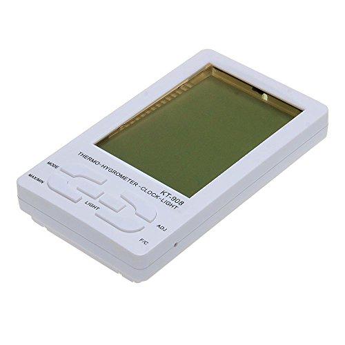 Digital Lcd Temperature Humidity Meter Hygro Thermometer Alarm Clock
