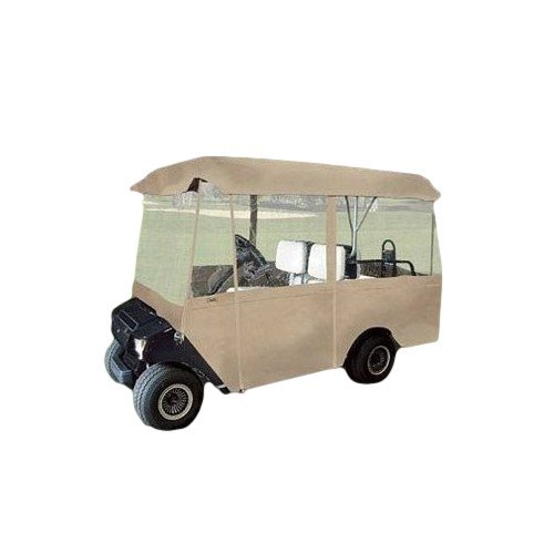 Deluxe Heavy Duty Electric 4-Person Golf Cart Enclosure For Club, Neighborhood Or Community